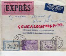 MAROC - ENVELOPPE PAR AVION EXPRES- EVEN ROBERT MARIGNANE- 1962- TIMBRE MOHAMED V- MARSEIOLLE GARE - Maroc (1956-...)