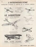 AEROMODELISME LE LOUVETEAU / AVION A MOTEUR CAOUTCHOUC / DES BATEAUX QUI NAVIGUENT - Airplanes & Helicopters