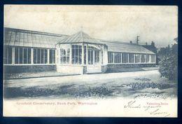 Cpa Angleterre Warrington Grosfield Conservatory , Bank Park  SEP17-92 - Non Classés