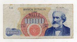 "Italia - Banconota Da Lire 1.000 ""Verdi ""- Medusa - 1° Tipo - ""R"" - Decreto 14 Gennaio 1964 - (FDC7903) - [ 2] 1946-… : République"