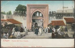 Puerta Del Soco Grande, Tánger, Marruecos, C.1905 - Arévalo U/B Tarjeta - Tanger