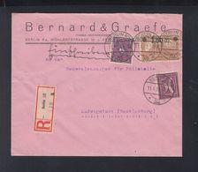 Dt. Reich R-Brief 1922 Berlin Nach Ludwigslust - Briefe U. Dokumente