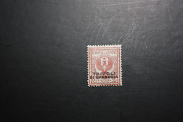 UFFICI ESTERI - TRIPOLI DI BARBERIA -  1909  - 2 C - NUOVO MNH** - Uffici D'Europa E D'Asia