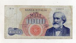 """Italia - Banconota Da Lire 1.000 """"Verdi """"- Medusa - 1° Tipo - """"R"""" - Decreto 5 Luglio 1963 - (FDC7904) - 1000 Lire"""