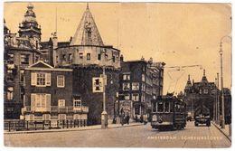 Amsterdam - Schreierstoren Met Tram - Repro Uit 1947 - Amsterdam