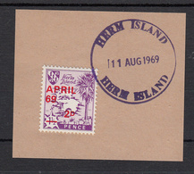 Herm (Guernsey)  April 69 Provisional Used On Piece Fine Used - Guernsey