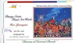 Télécarte Japon / 110-016 - DISNEY Série Art Peinture Hiro Yamagata (5526) Train Zug Pinocchio Tortue Japan Phonecard - Disney
