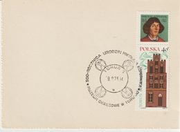 5-Polonia-storia Postale Estero-Astronomia-Copernico-Bollo Speciale Figurato - Astronomia