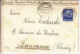 LETTRE POUR LA SUISSE - CENSUREE,DIVERS CACHET ET BANDE DE CENSURE  - 25.11.1940 - V/IMAGE- - Deutschland