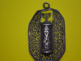 OLD SILVER JEWISH TELKARI/MEZUZA, JUDAICA, 4,5X2,5cm. Silver 6,45 Gram - Silberzeug