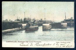 Cpa Angleterre  Warrington Latchford Locks , Manchester Ship Canal  SEP17-92 - Angleterre