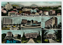 SALUTI  DA  MONTEGROTTO  TERME  (PD)    ACQUARELLATA    (VIAGGIATA) - Italia