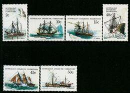 AAT 1981Ships Of The Antarctic  Part 3  - 6 Values - Mint  MUH  New / Neufs Sans Charniere - Ongebruikt