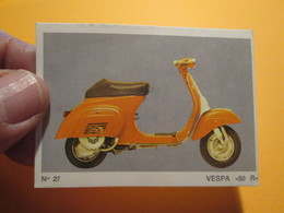 COMPLETEZ VOS ALBUMS !! Image Cartonnée TBE (recupération ) / N° 27 MOTO-PARADE AMERICANA MUNICH Genre PANINI - Moto