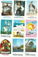 PORTUGAL Lot De 9 Timbres Vignettes Très Grand Format - Vignetten (Erinnophilie)