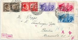 ITALIE ITALIA Lettre 1941 Censurée Série Des Grands Chefs De La WW2 Pour Berlin - Poststempel