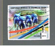 ITALIA REPUBBLICA  -   2013  MONDIALI CICLISMO    - USATO - 6. 1946-.. Repubblica
