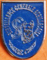 Z  663 ).....BRIGADE CANINE  /CHIEN MILITAIRE / ......SURVEILLANCE  GENERALE  AURILLACOISE....département Du Cantal - Pin's