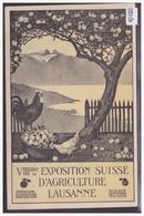 LAUSANNE - VIIIme EXPOSITION D'AGRICULTURE 1910 - CARTE NON CIRCULEE - TB - VD Vaud