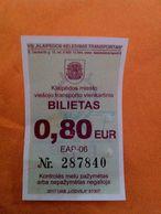 Lithuania One Way Ticket Bus 2017 Klaipeda - Bus
