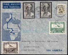 CONGO - BELGIQUE - POSTE AERIENNE - FFC - ANVERS - ELISABETHVILLE - 1935 - TL1 - Congo Belge