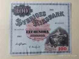 100 Kronor 1961 - Suède