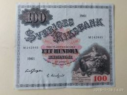 100 Kronor 1961 - Svezia