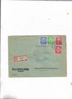 Einschreibebrief Von Bochum Zum Arbeitsamt Dortmund/1942! - Briefe U. Dokumente