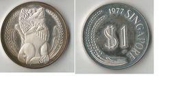 SINGAPOUR 1 DOLLAR 1977 ARGENT - Singapour