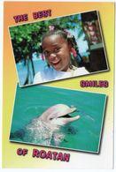 HONDURAS - THE BEST SMILES OF ROATAN / CHILDREN /DOLPHIN / THEMATIC OVERPRINT STAMP - RED CROSS - Honduras