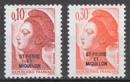 SPM 1986 Mi# 524+ 526** DEFINITIVES, MARIANNE - Unused Stamps
