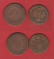Russie / Lot De 2 Monnaies Anciennes - Russie