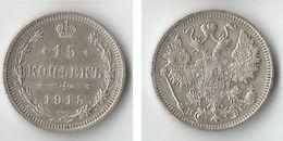 RUSSIE 15 KOPEKS 1915   ARGENT - Russie