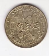 Jeton Médaille Monnaie De Paris MDP Disneyland Paris Main Street - Monnaie De Paris