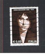 ITALIA REPUBBLICA  - UNIF. 3067 -  2008  ANNA MAGNANI    - USATO - 6. 1946-.. Repubblica