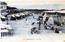 44 PREFAILLES  La Plage   CARTE BLEUTEE 1 ETAT - Préfailles