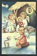 +++ CPA - Noël Christmas - Crèche - Ange Angel - Illustrateur ?   // - Noël