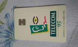 ANCIENNE CARTE A PUCE SALON GENEVE 1995 T.B.E !!! - Cartes De Salon Et Démonstration