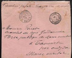Occupation Du MAROC CAD Trésor Et Postes 102 + CAD 12° Corps Quartier Général 10.9.1913 Verso Oblitération  ...G - Marruecos (1891-1956)