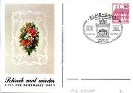 """BRD Privatganzs.-Postkarte PP106 C1/004 """"Tag Der Briefmarke 1982"""" SST 24.10.1982 ELMSHORN 1 - Postales Privados - Usados"""