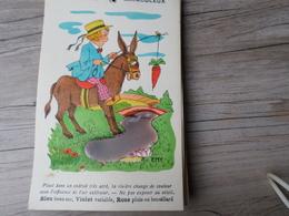 Carte Fantaisie Barometre Miraculeux Signe EMY - Animaux Habillés
