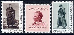 YUGOSLAVIA 1952 60th Birthday Of Tito  MNH / **.  Michel 693-95 - 1945-1992 Socialist Federal Republic Of Yugoslavia