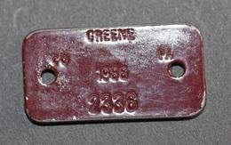 "Jeton 1986 ""Rabies Vacc. Vaccination Antirabique - Greene (Iowa) - USA"" Médaille De Chien - Dog Token - Professionals/Firms"