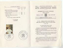 1979 VATICAN Special COVER (stamp On Repro 1929 Acta Apostolocae Sedis) Religion - Covers & Documents