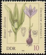 GERMAN DEMOCRATIC REPUBLIC - Scott #2254 Poisonous Plants, Colchicum Autumnale / Mint H Stamp - Toxic Plants