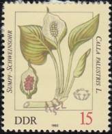 GERMAN DEMOCRATIC REPUBLIC - Scott #2255 Poisonous Plants, Calla Palustris / Mint H Stamp - Toxic Plants