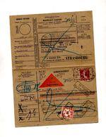 Mandat Contre Remboursement Cachet Saverne Sur Semeuse Taxee  Retour Non Reclame Mulhouse - Manual Postmarks