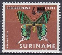 Suriname 1977 Tiere Fauna Animals Schmetterlinge Butterflies Mariposa Insekten Insects, Mi. 801 ** - Suriname