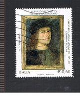 ITALIA REPUBBLICA  - UNIF. 3071 -  2008  PINTURICCHIO, PITTORE     - USATO - 2011-...: Usati