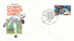 #2619 FDC Summer Olympics Baseball, 3 April 1992 Illustrated Cover - First Day Covers (FDCs)